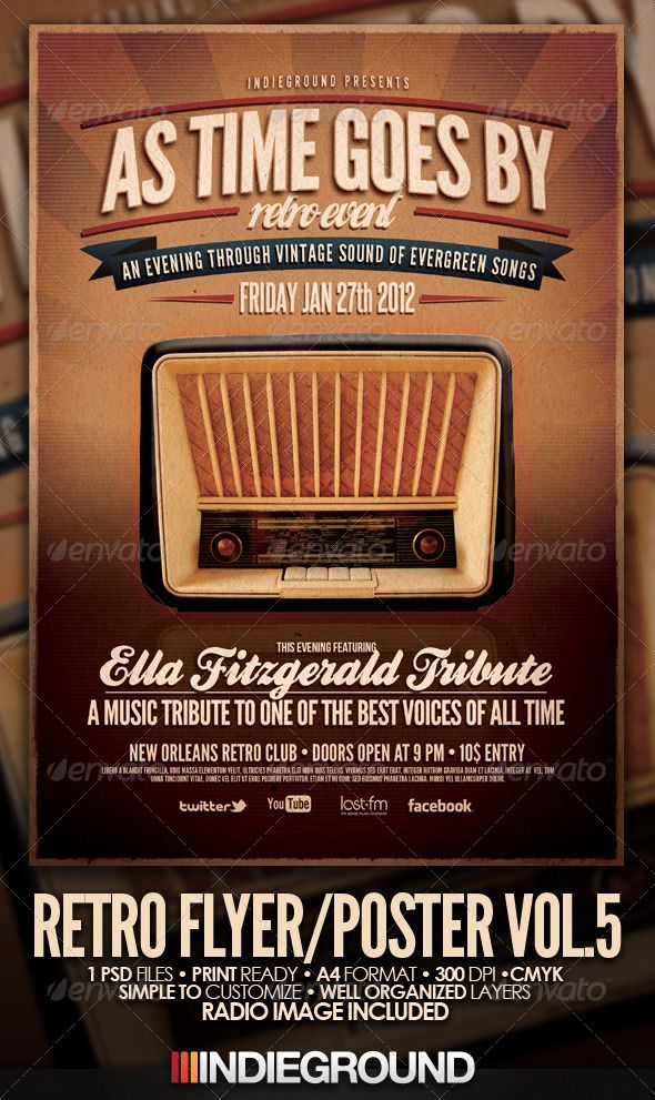 8 best R E T R O - G R A P H I C S images on Pinterest Flyer - retro flyer template