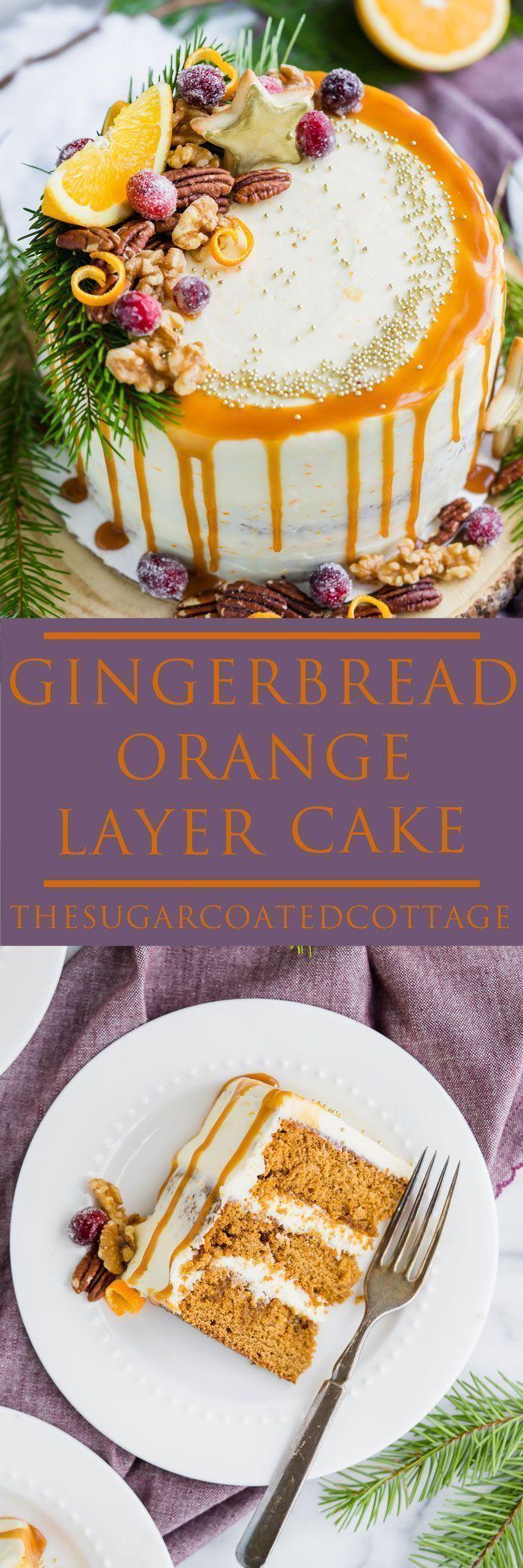 Gingerbread Orange Layer Cake