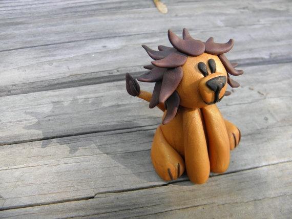 clay lion, super cute!