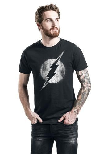 """Classica T-Shirt uomo nera """"Logo Mono Distressed"""" di Flash."""
