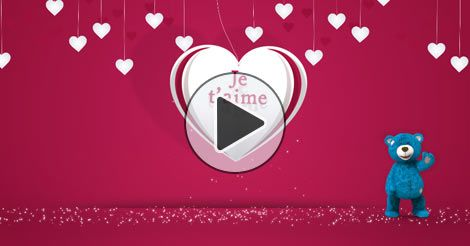 Carte virtuelle je t aime peluche - Joliecarte.com
