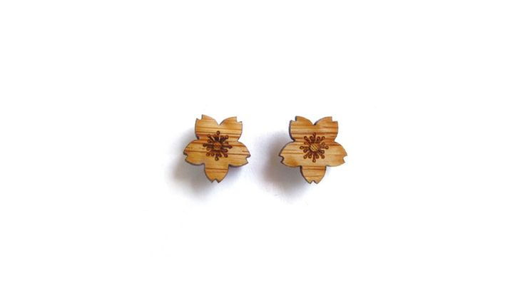 Cherry Blossom Earrings // Cabin + Cub