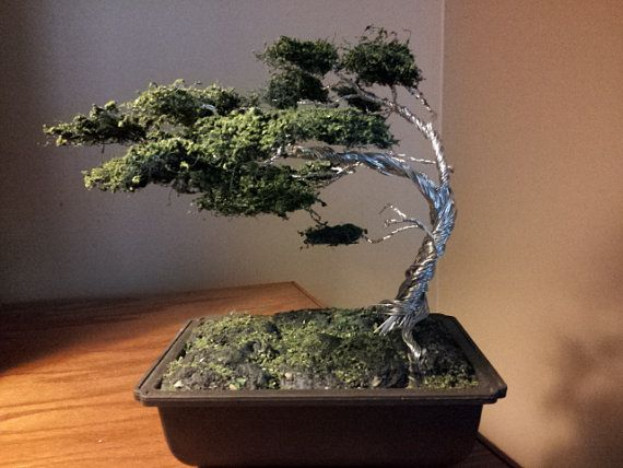 Twisted wire tree bonsai inspired by TreeWhisperings on Etsy, $480.00