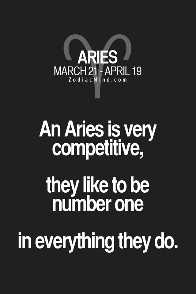 Aries - always striving for the best