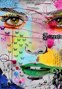 "Saatchi Art Artist Loui Jover; Drawing, ""momento"" #art"