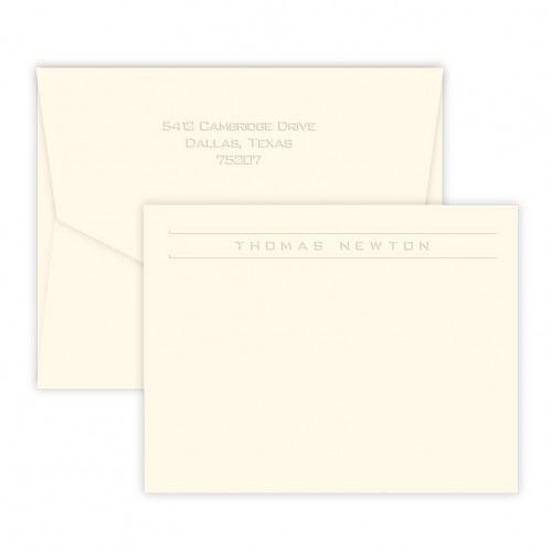 Corridor Embossed Correspondence Card
