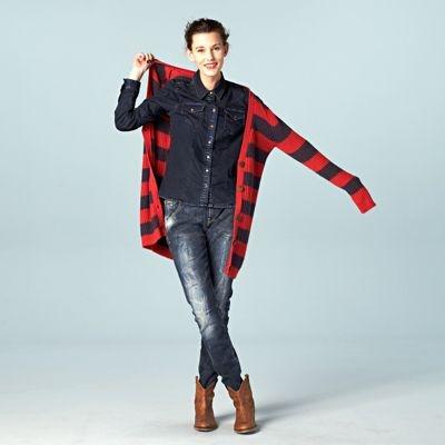 De boyfriendlook: stoer in denim, met een lekker groot vest.  #LOOKVANDEDAG