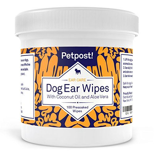 Petpost | Dog Ear Cleaner Wipes - 100 Ultra Soft Cotton P...
