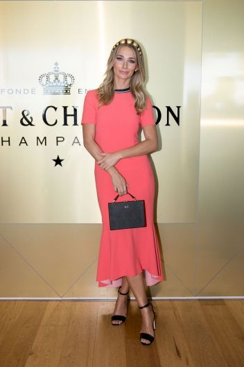 Anna Heinrich at the Moet & Chandon race day at the Royal Randwick racecourse.