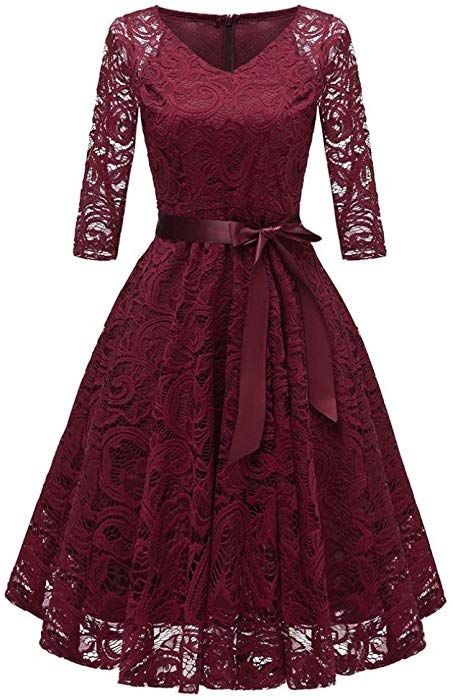 10ae88f7983 Amazon.com  UOFOCO Wedding Bridesmaid Dress for Womens Sleeveless Lace Long  Dress Formal Ladies  Clothing