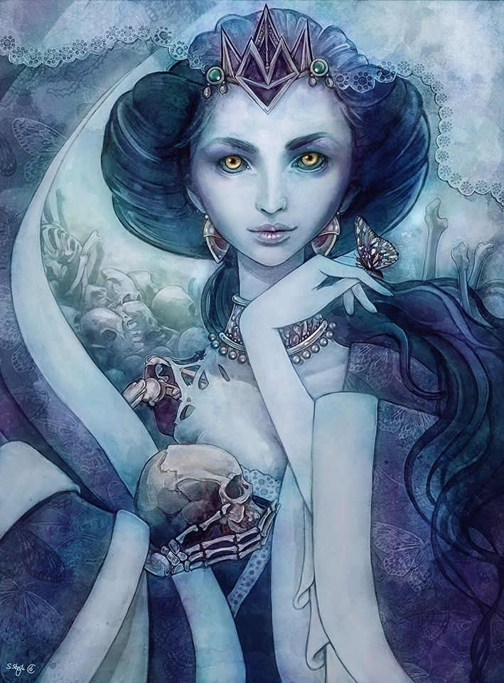 'Queen of the dead' painting by sylvia strijk