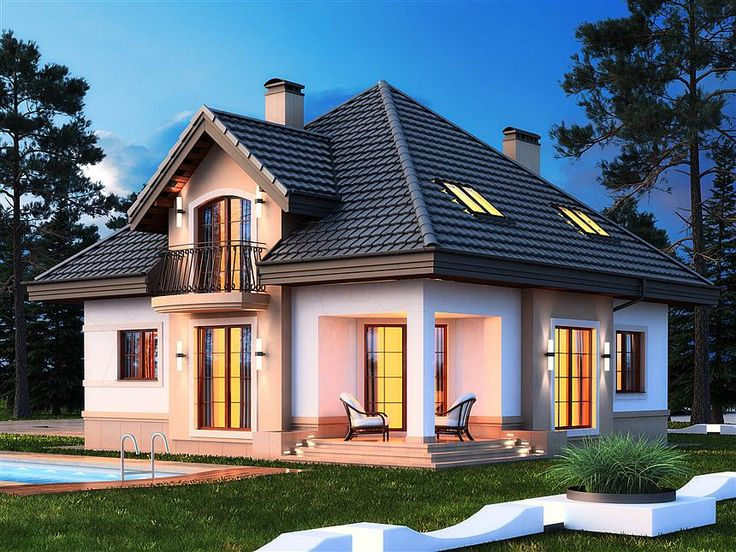 Casă de vis în stil clasic cu piscină, garaj si mansardă