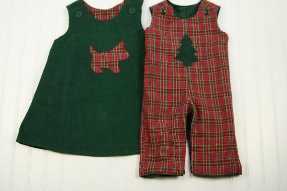 Reversible girls christmas dress red plaid with by sodacitysewing 35