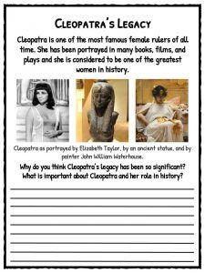 Cleopatra Facts, Information & Worksheets   Teaching Resource