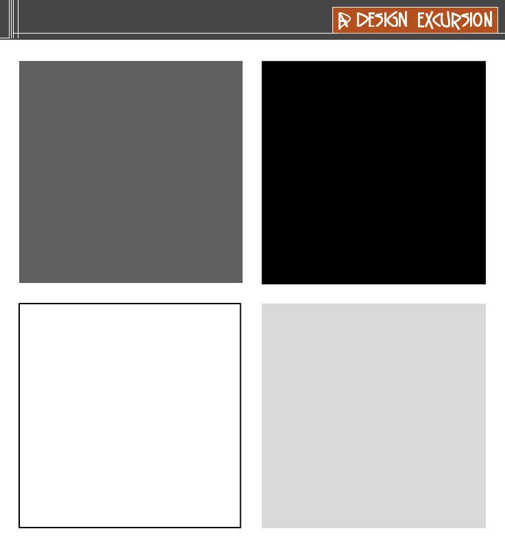 Grey Blue And Brown Color Scheme: ACHROMATIC COLOUR SCHEME A Colourless Scheme Using Black