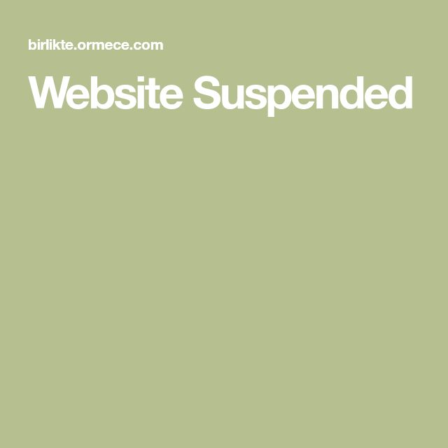 Website Suspended