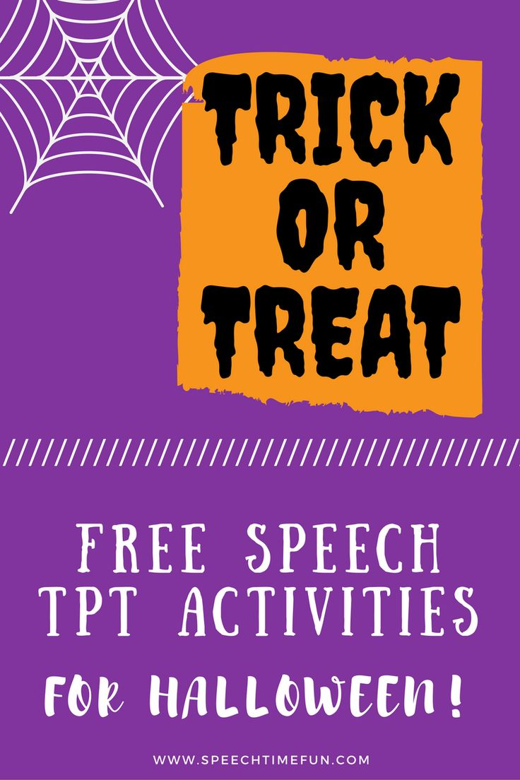Want free activities for Halloween to work on a variety of speech and language goals?  Check out these activities!