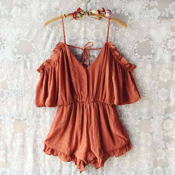 The Drifter Romper in Rust - get festival ready in our favorite new boho romper