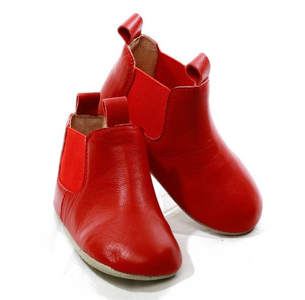 Gorgeous Soft Soled Leather Red Riding Boots | Skeanie Soft Soled Shoes for Baby | Not Another Baby Shop - Not Another Baby Shop - Online Ba...