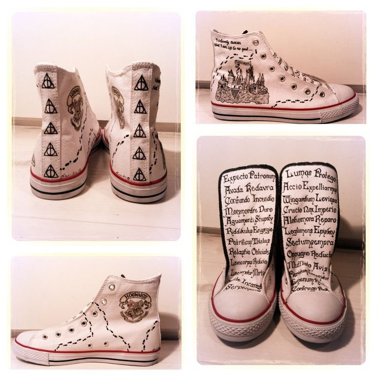 """""""I decided to dedicate my white sneakers to my favorite books/movies of all time: Harry Potter! I really like the outcome of it, and these are now my favorite shoes!"""""""