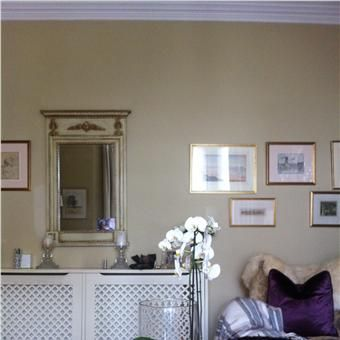 Living Room in Cord No 16 by Farrow and Ball.