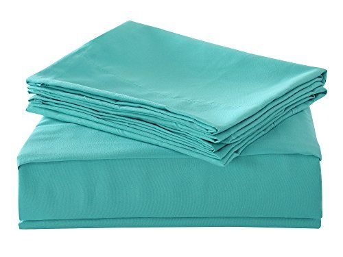 HollyHOME Super Soft Solid Double Brushed Microfiber Luxury 4PCS Sheet Set, Teal, Queen Ready for bedroom furniture pictures... - http://aluxurybed.com/product/hollyhome-super-soft-solid-double-brushed-microfiber-luxury-4pcs-sheet-set-teal-queen/