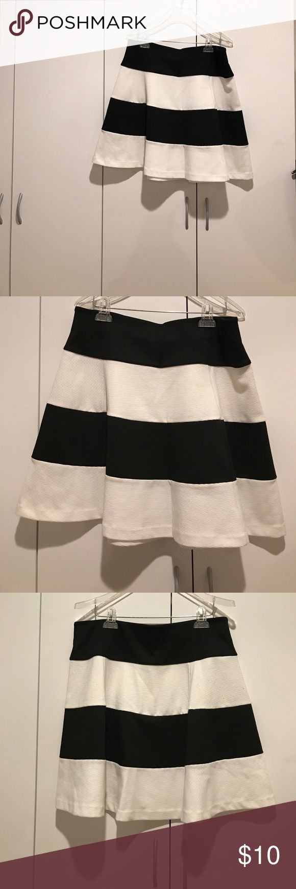 Black and white stripe a-line skirt Cute and chic for the office or night out! Skirts A-Line or Full