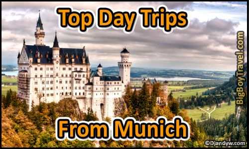 Top Day Trips From Munich Germany. Best side excursions and one day tours from Munich including the top places to see nearby self guided and other cities outside of town. Plus how to get to each of side trip by bus, train, or tour group.