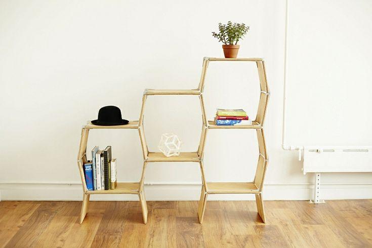 Moderne Designermöbel, die sich ohne Werkzeuge konstruieren lassen