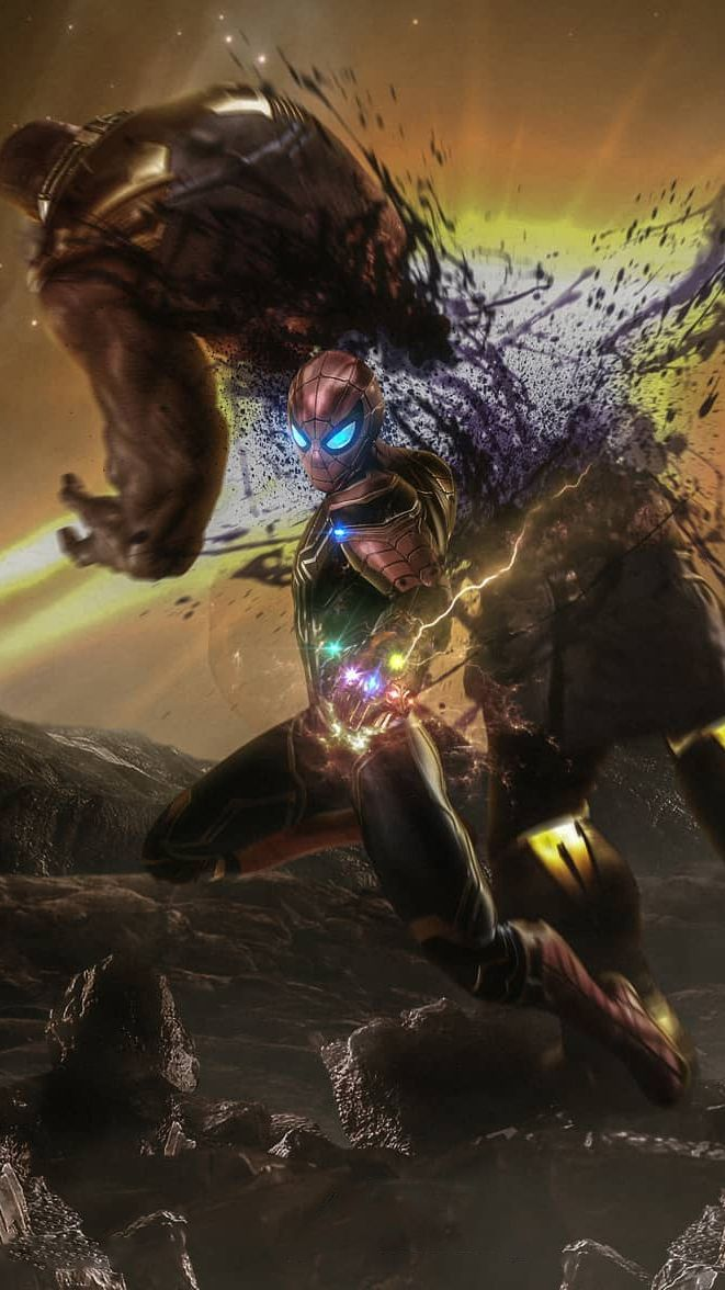 Spider Man Vs Thanos Infinity Gauntlet Iphone Wallpaper Marvel Spiderman Iron Man Wallpaper Marvel Superheroes