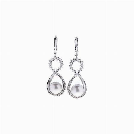 COPPIA DI ORECCHINI, ITALIA - oro bianco, diamanti e perle  #2 ASTA ONLINE Gioielli del novecento - Lotto n. 1 #earrings #whitegold #diamonds #jewels #jewellery #florence #pearl #magnificent #luxury #giftforher #auction #rich #whitepearl #italy