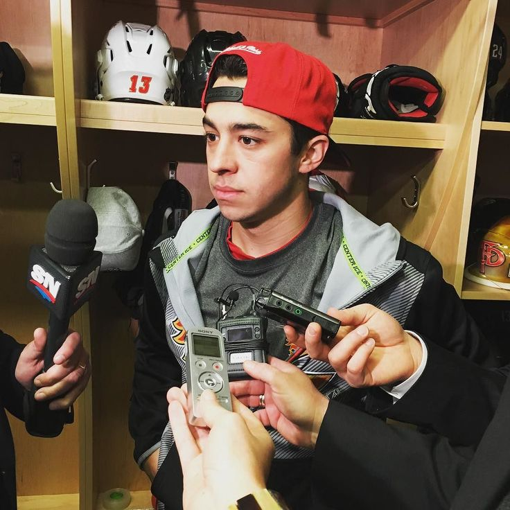 "nhlflames: """"They're a big physical team. They've got skill on their team as well. They're the whole package. We've got to make sure we come out flying and use our speed to our advantage."" - Johnny Gaudreau on the #stlblues"""