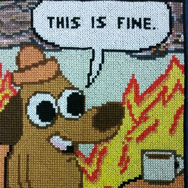 #thisisfine #crossstitch by Stan and http://Florapic.twitter.com/UO2KTCxrFX