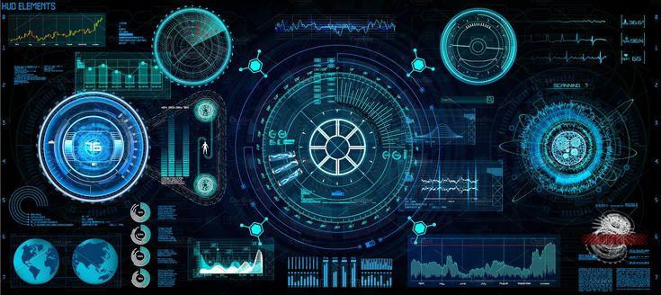 Technology Elements Set, HUD #dashboard#hologram#space#Interface
