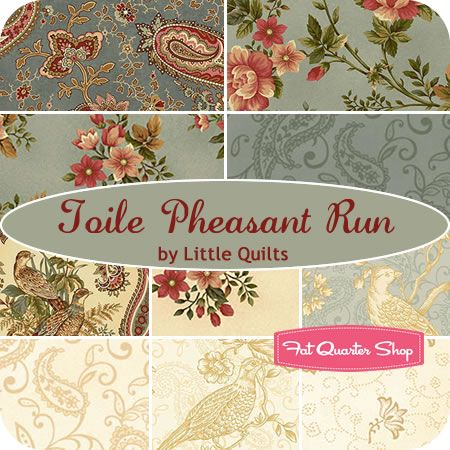Toile Pheasant Run Fat Quarter Bundle Little Quilts for Henry Glass Fabrics - Fat Quarter Shop