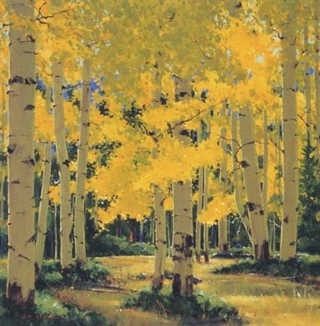 Early Autumn by William Cather Hook, oil painting.