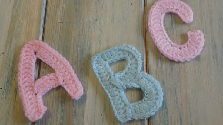 (crochet) How To - Crochet Letters A, B and C - Yarn Scrap Friday