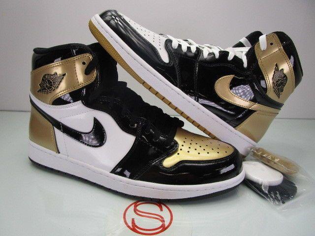 Nike Air Jordan I 1 Retro High Og Gold Toe Top 3 12 Fashion