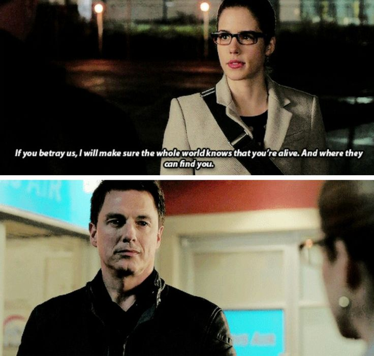 """""""If you betray us, I will make sure the whole world knows that you're alive. And where they can find you"""" - Hell yeah! Felicity & Malcolm #Arrow"""