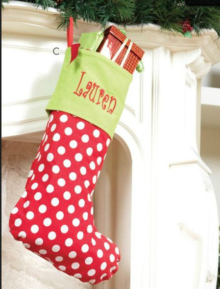 christmas stockings in red by