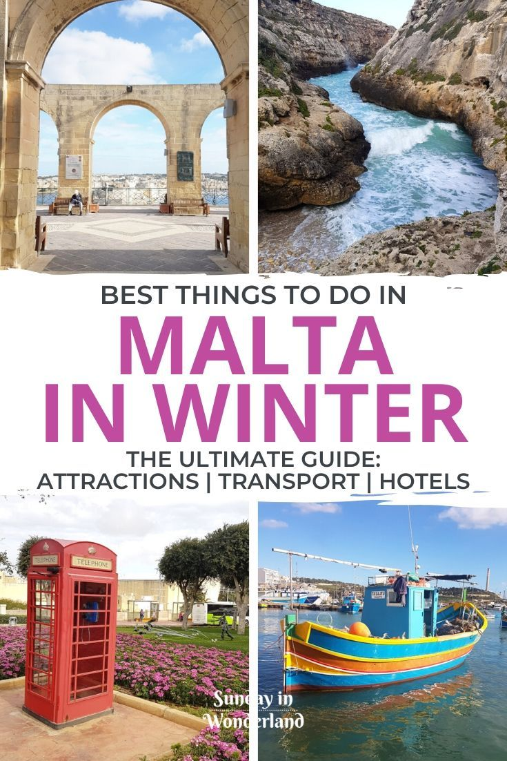Are you planning a trip to Malta in winter? Start here, with this practical guide. Discover the best things to do in Malta in winter, where to stay in Malta, and how to get around the island! | Malta Island | Malta Honeymoon | What to do in Malta | What to see in Malta | How to get around Malta | Malta Travel | Malta in January | Malta in December | Malta in November | Malta in February | Gozo | Valletta Travel | Malta Travel | Malta Photography | Malta Bucket List | Game of Thrones in Malta | W