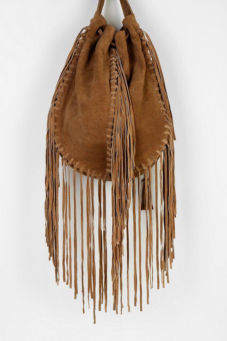 Ecote Suede Fringe Shoulder Bag 35