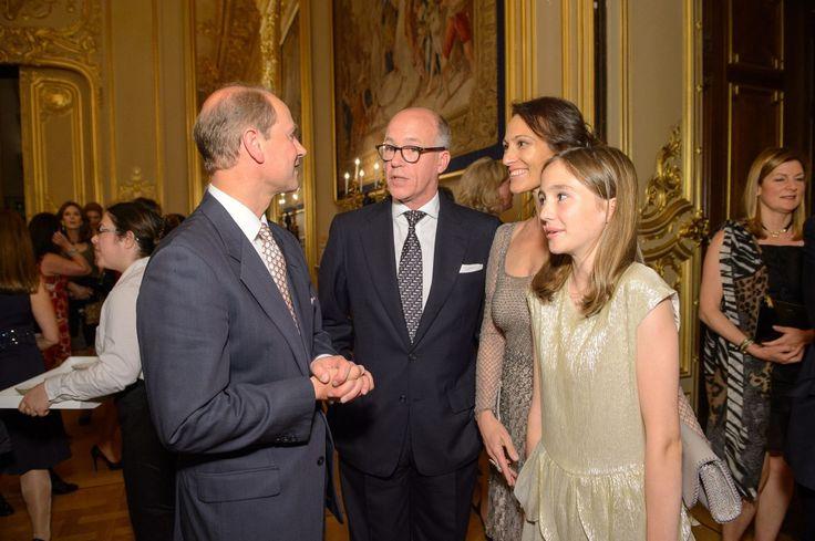 Prince Edward, Sir Harry Nuttall, Lady Dalit Nuttall and Amberley Nuttall at Windsor Castle