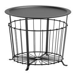 IKEA - GUALÖV, Table à rangement intégré, , Il est possible d'y ranger des jetés, des oreillers ou des journaux, mais la corbeille peut également rester vide, ce qui donne l'impression d'avoir plus d'espace ouvert.Le design ouvragé de la table permet de la porter et la déplacer facilement.Peut être utilisée comme table basse, table d'appoint ou table de chevet.
