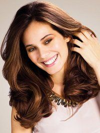 Pictures : Dark Brown Hair with Caramel Highlights - Caramel Highlights On Brunette Hair Color#image