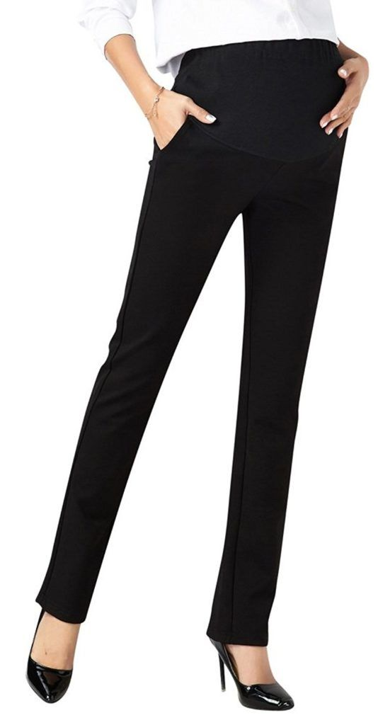 af6af541738cb Foucome Womens Maternity Bootcut Stretch Career Dress Pants Work Office Over -Bump Trousers