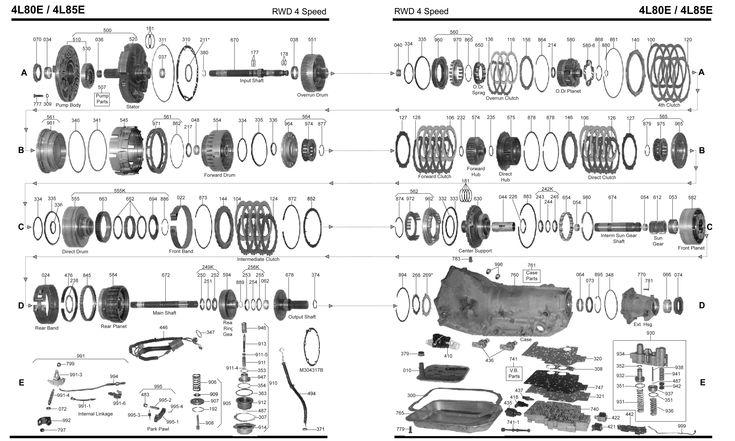 4L80E Transmission Parts Diagram Automatic Transmission