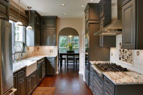 Long, narrow kitchen