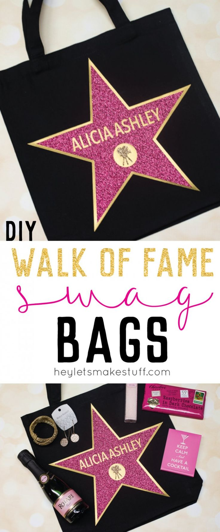 Hollywood walk of fame swag bags