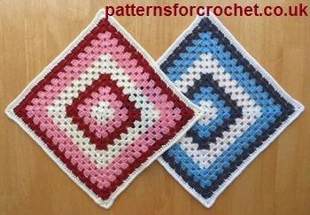Free crochet pattern for granny square from http://www.patternsforcrochet.co.uk/12-inch-granny-square-usa.html #freecrochetpatterns #patternsforcrochet